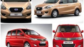 Comparison Datsun Go+ VS Chevrolet Enjoy: Compare price, features, and specification between Go+ and Enjoy