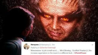 2.0 Teaser Twitter Reaction: Rajinikanth And Akshay Kumar's Sci-fi Thriller Gets a Fantastic Welcome on Social Media