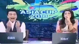 Asia Cup 2018 Super Four: Pakistan News Anchor Shows Middle Finger on Live Bulletin -- WATCH
