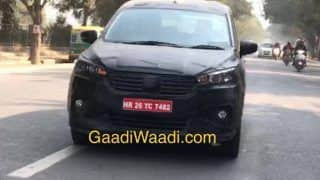 Maruti Ertiga 2018 Spied Again Ahead of Official Debut at Auto Expo 2018; Price in India, Launch Date, Interior, Images, Specification