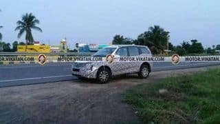 2018 Mahindra XUV500 Spotted Testing Again; India Debut Likely Next Year at Auto Expo