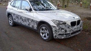 New 2013 BMW X1 facelift caught testing in India