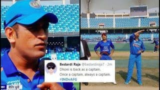 Asia Cup 2018 Match Super Four, India vs Afghanistan Match 5: Rohit Sharma Rested, MS Dhoni Back as Captain For 200th Time in ODIs, Twitter Hits The Roof -- WATCH