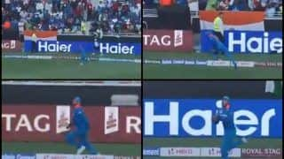 Asia Cup 2018, India vs Pakistan 5th ODI: Super Sub Manish Pandey Takes Brilliant Catch to Dismiss Sarfraz Ahmed of Kedar Jadhav's Bowling -- WATCH