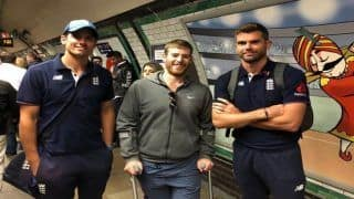 India vs England 5th test Day 3 Kenington Oval: Alastair Cook, James Anderson Take Underground Train to Play His Farewell Test Against Virat Kohli-Led India -- SEE PIC