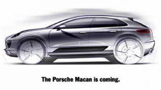 Porsche Macan shown in concept sketch