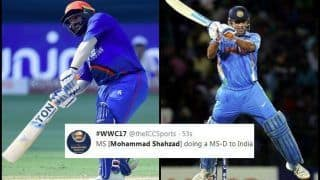 India vs Afghanistan Match 5, Asia Cup 2018 Super Four: Mohammed Shahzad Slams a Breezy Fifty, Twitter Feels he is Doing an MS Dhoni