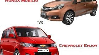 Comparison Honda Mobilio Vs Chevrolet Enjoy: Compare Price & Technical Specifications