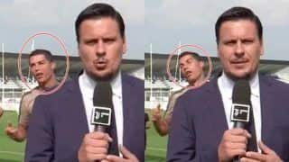 Cristiano Ronaldo Videobombs a Journalist; Makes Faces Like a Zombie During Juventus Practice -- WATCH