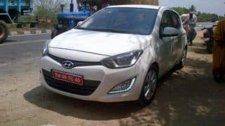 Hyundai i20 facelift caught in India sans camouflage