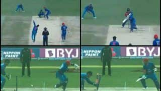 Asia Cup 2018 Super Four, India vs Afghanistan Match 5: MS Dhoni in His 200th Game as Captain, Takes 00.12 Sec to Stump Javed Ahmadi of Ravindra Jadeja -- WATCH