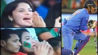 Asia Cup 2018 Final, India vs Bangladesh: MS Dhoni's Brilliant Stumping of Liton Das of Kuldeep Yadav Garners Contrasting Reactions From India and Bangladesh Girl Fan -- WATCH
