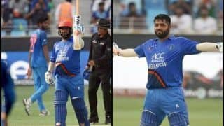 India vs Afghanistan Match 6, Asia Cup 2018 Super Four: Mohammad Shahzad Slams 5th ODI Ton, Joins Shahid Afridi to Unique Record, Sets Twitter on Fire -- WATCH