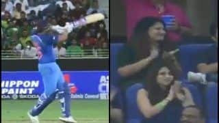 Asia Cup 2018, India vs Pakistan 5th ODI: Rohit Sharma Hits a Six, But Ritika Sajdeh's EPIC Reaction Steals The Show -- WATCH