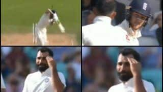 India vs England 5th Test Kennington Oval: Mohammed Shami Gives a Mouthful to Ben Stokes After Beating Him Outside Off-Stump -- WATCH