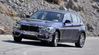 BMW 1-Series facelift spied