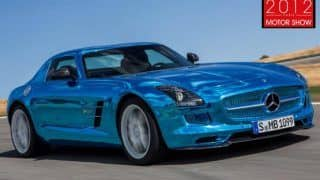 2012 Paris Motor Show - All-electric Mercedes Benz SLS AMG is world's most powerful EV