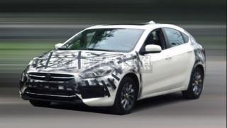 Fiat Viaggio caught in hatchback form