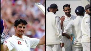 India vs England 5th Test Kennington Oval Report: Alastair Cook Signs Off With 33rd Ton, With Backs to Wall Can KL Rahul, Ajinkya Rahane And Co Draw The Test?