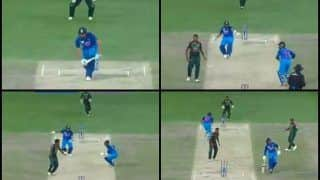 Asia Cup Final 2018, India vs Bangladesh: Terrible Mix-up Between Dinesh Karthik-Rohit Sharma Nearly Resulted in Run Out -- WATCH