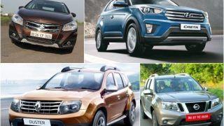 Maruti Suzuki S-Cross VS Hyundai Creta VS Renault Duster VS Nissan Terrano: Feature and Specification comparison