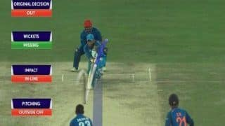 Asia Cup 2018 Super Four, India vs Afghanistan Match 5: MS Dhoni Finds Himself Unlucky, Gets a Wrong Decision From Umpire -- WATCH