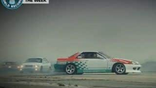 Fifty seven cars attempt to break world record