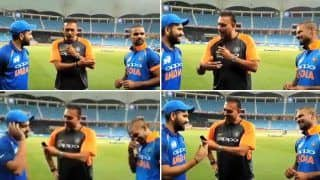 Asia Cup 2018 Super Four: Head Coach Ravi Shastri Turns Presenter, Does Rendezvous With Centurions Rohit Sharma, Shikhar Dhawan After Win Over Pakistan -- WATCH