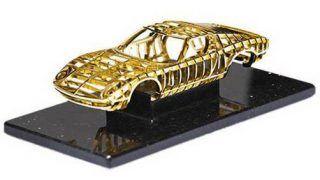 Lamborghini Miura 24 carat gold sculpture revealed