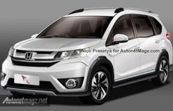 Honda BR-V Compact SUV rendered: India debut at 2016 Auto Expo