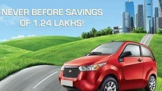 Mahindra Reva Electric Car: Mahindra Reva offers e2o at a starting price of INR 4.79 lakhs, announces special gov incentive of INR 1.24 lakh