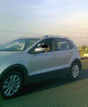 Volkswagen Cross Polo spied on test in India