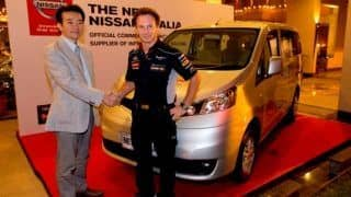 2013 Indian GP: Nissan India as the official supplier of LCV to Infiniti Red Bull Racing team