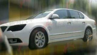 2013 Skoda Superb facelift spied in China