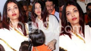 Aishwarya Rai Bachchan's Sindoor Look as She Visits Ganpati Pandal With Aaradhya is Simply Pretty; See Pics