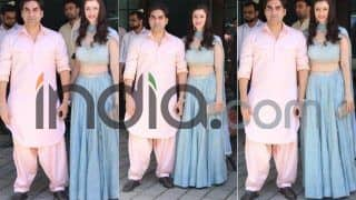 Arbaaz Khan And Giorgia Andriani Make a Stylish Appearance at Arpita Khan Sharma's Ganpati Celebration; See Pics