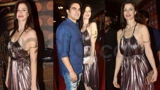 Arbaaz Khan's Rumoured Girlfriend Giorgia Andriani Looks Super Hot in This Copper Dress at an Event; Check Pics