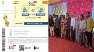 Chennai Super Kings Fan K Vinod Designs Wedding Invitation Inspired by CSK Match Tickets