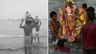 Ganpati Visarjan 2018: Mumbai Police Shares a Throwback Video of Ganesh Procession of 1946 While Ensuring Safety of Its Citizen - Watch