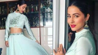 Bigg Boss 11 Finalist Hina Khan Looks Super Hot as She Flaunts Her Washboard Abs in Pastel Green Outfit - See Pictures