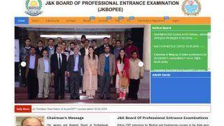 JKBOPEE B.Ed. Entrance Test Jammu 2018: मेरिट लिस्ट जारी, jkbopee.gov.in पर चेक करें