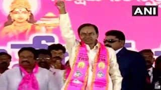 TRS Public Meeting News Updates: Telangana CM K Chandrashekhar Rao Addresses Gathering at Pragathi Nivedana Sabha