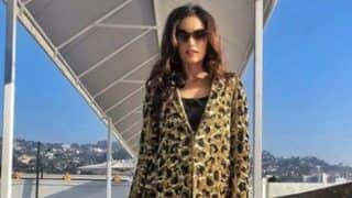 Miss World 2017 Manushi Chillar Looks Hot in Leopard Print Outfit During Los Angeles Vacation - See Picture