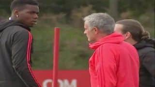 Manchester United Head Coach Jose Mourinho And Midfielder Paul Pogba Filmed in Heated Training Ground Clash--WATCH