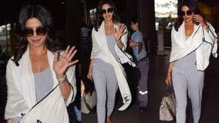 Priyanka Chopra Looks Dashing in Gray Jumpsuit as She Arrives Back in Town After Vacay in Italy; See Pics
