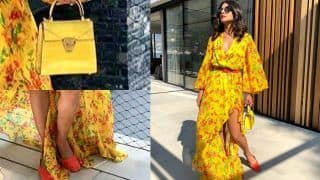 Priyanka Chopra Looks Like a Sunshine in a Ruffle Caroline Constas Dress But There's an Overdose of Yellow in Her Look; See Pics