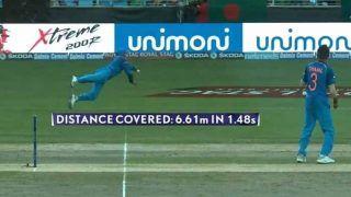 INDvsBAN: जडेजा ने '1.48 सेकेंड' में लगाई '6 मीटर' लम्बी छलांग, VIDEO में देखें धोनी की मदद से कैसे किया आउट