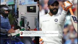 India vs England 2018, 5th Test Oval: Petrol Price Hike Pips Ravindra Jadeja as India's Highest Scorer, Shashi Tharoor Retweets
