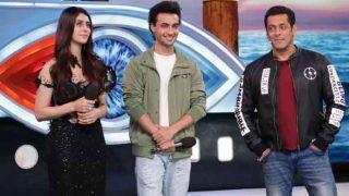 Big Boss-12 : भाईजान सलमान खान के साथ बिग बॉस के घर आए 'लव यात्री' आयुष शर्मा और वारिना हुसैन ने किया गरबा