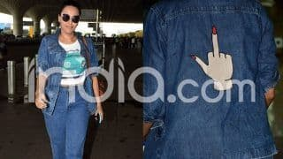 Swara Bhasker Wears a Denim Jacket With 'Middle Finger' Printed Detail at The Back; See Pics